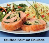Stuffed Salmon Roulade